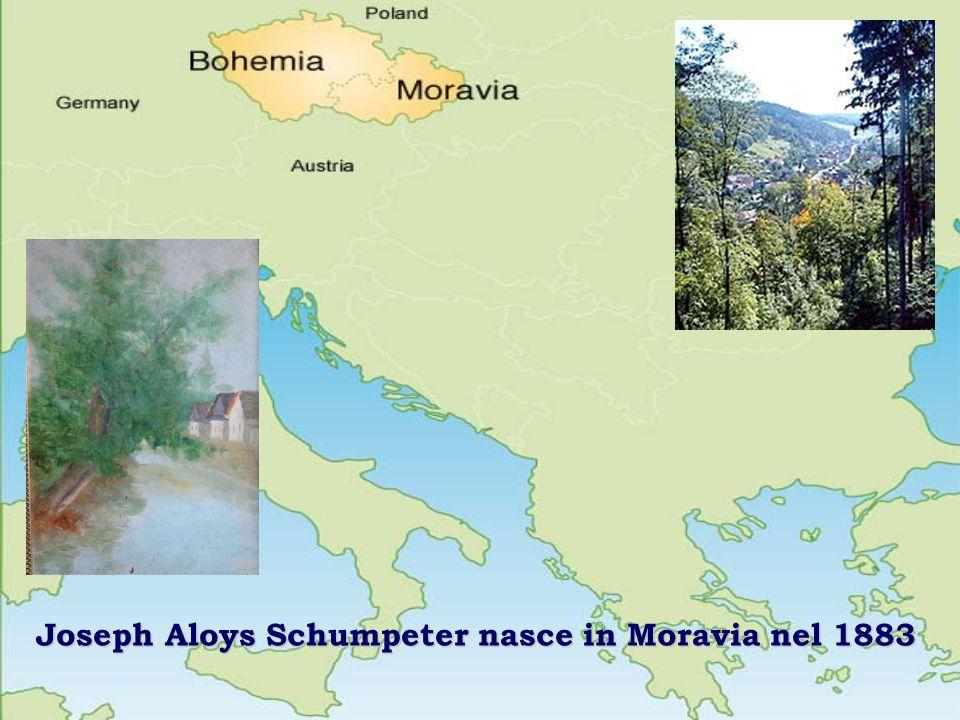 Joseph Aloys Schumpeter nasce in Moravia nel 1883