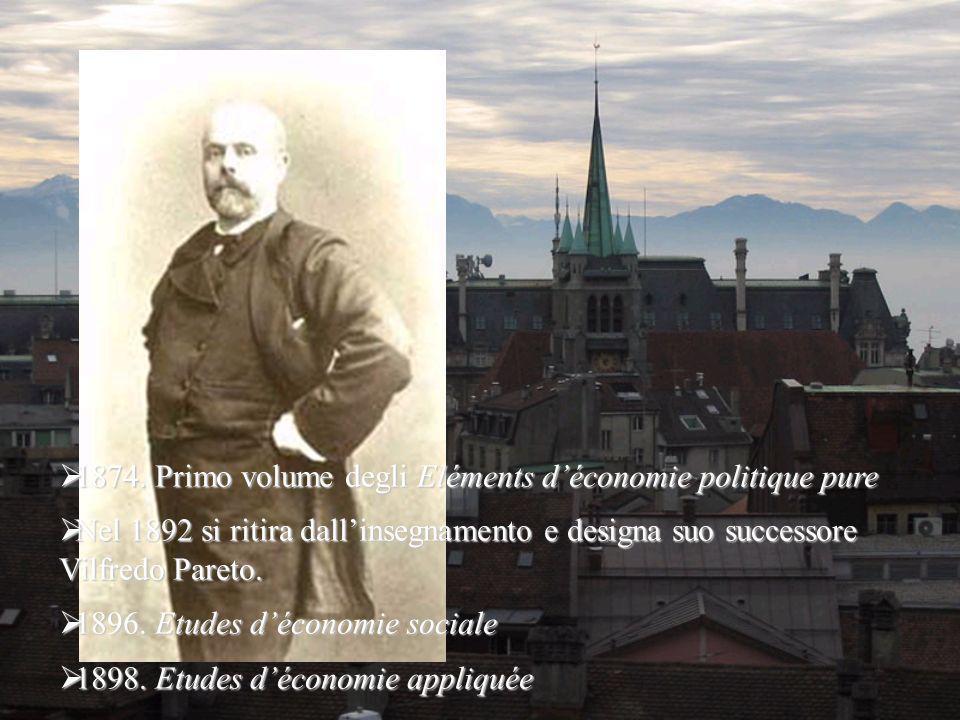 1874. Primo volume degli Eléments déconomie politique pure 1874.
