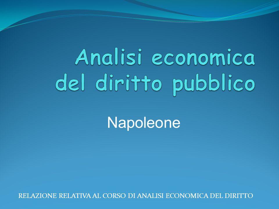 RELAZIONE RELATIVA AL CORSO DI ANALISI ECONOMICA DEL DIRITTO Napoleone