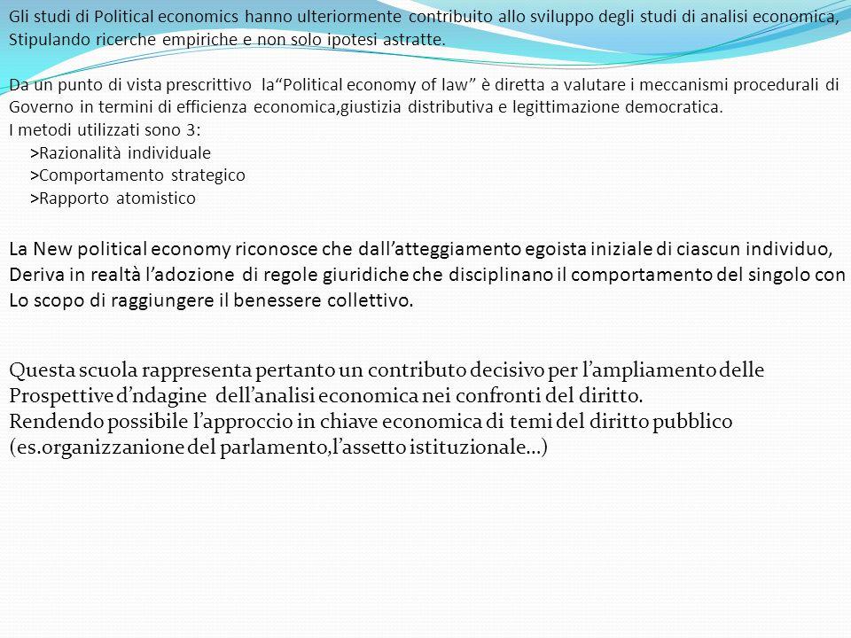 Gli studi di Political economics hanno ulteriormente contribuito allo sviluppo degli studi di analisi economica, Stipulando ricerche empiriche e non s