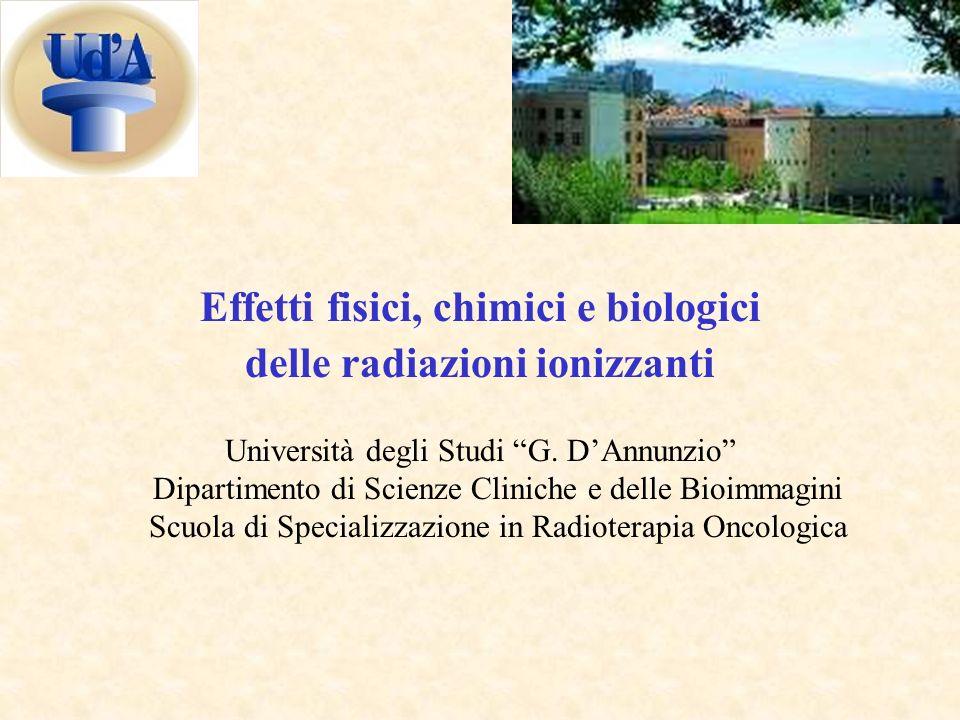 Effetti fisici, chimici e biologici delle radiazioni ionizzanti Università degli Studi G.