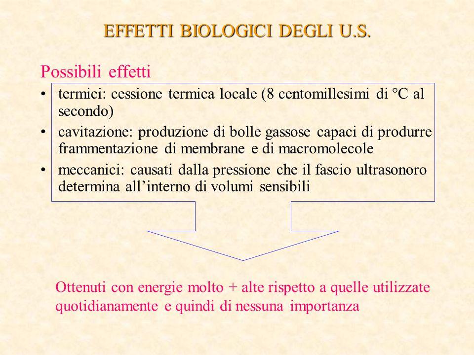 EFFETTI BIOLOGICI DEGLI U.S.