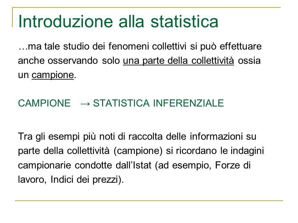 Le distribuzioni statistiche Le informazioni rilevate di un fenomeno possono essere sintetizzate tramite le distribuzioni.