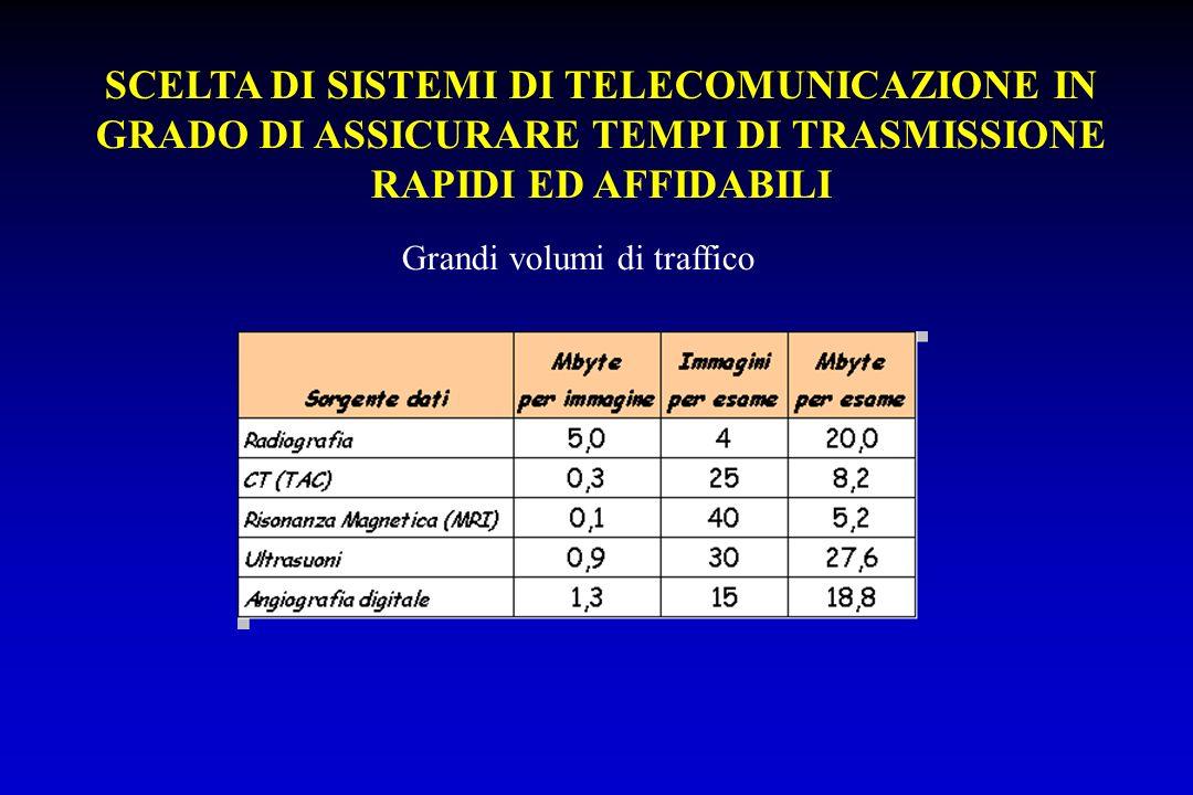 SCELTA DI SISTEMI DI TELECOMUNICAZIONE IN GRADO DI ASSICURARE TEMPI DI TRASMISSIONE RAPIDI ED AFFIDABILI Grandi volumi di traffico