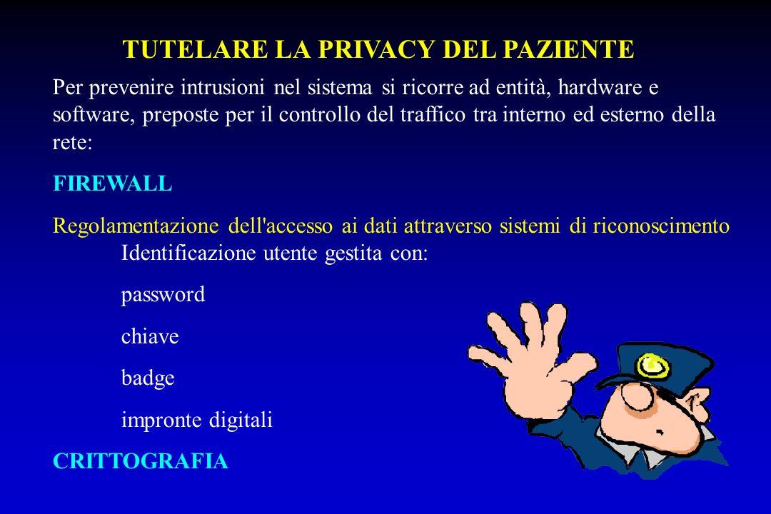 Per prevenire intrusioni nel sistema si ricorre ad entità, hardware e software, preposte per il controllo del traffico tra interno ed esterno della re
