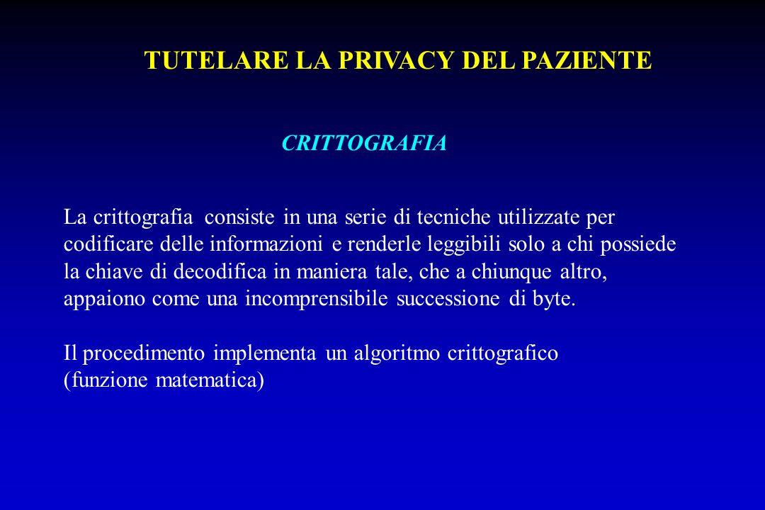 CRITTOGRAFIA La crittografia consiste in una serie di tecniche utilizzate per codificare delle informazioni e renderle leggibili solo a chi possiede l