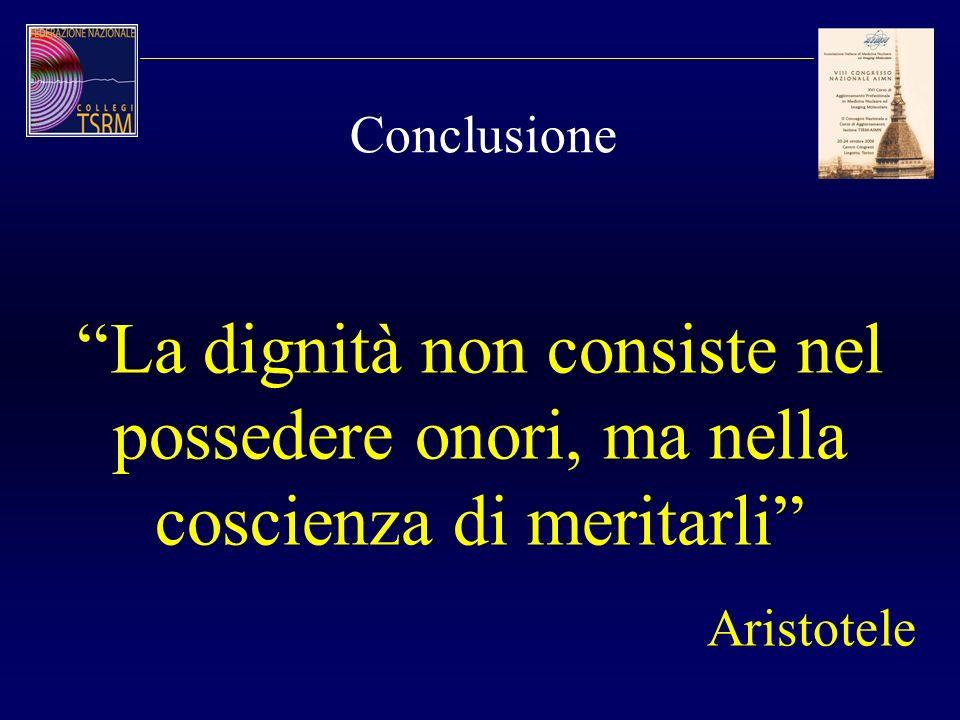 Conclusione La dignità non consiste nel possedere onori, ma nella coscienza di meritarli Aristotele