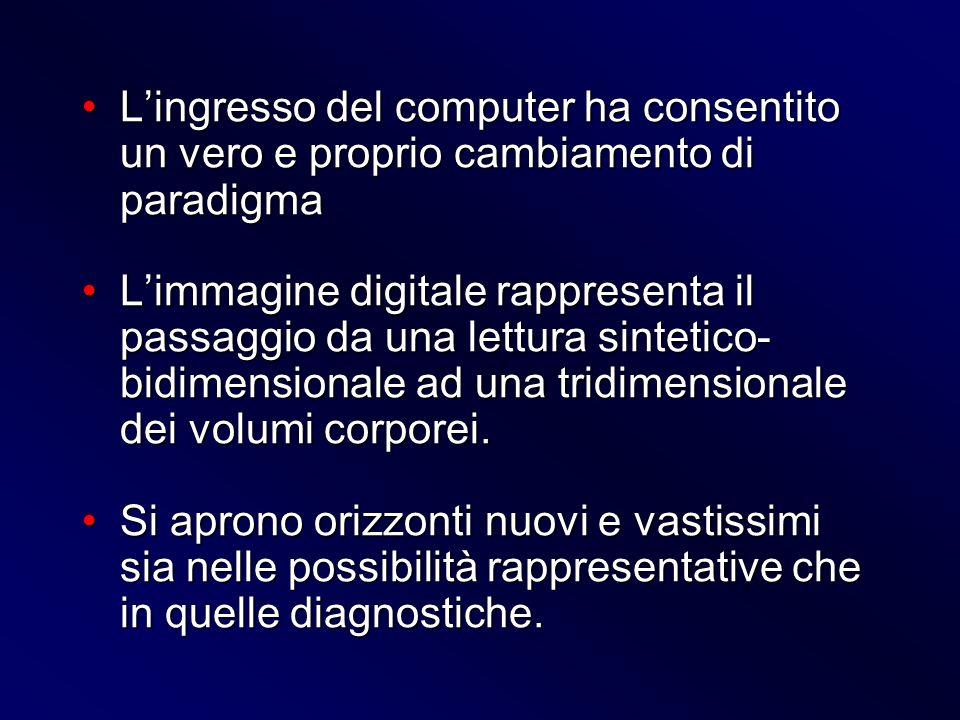 Lingresso del computer ha consentito un vero e proprio cambiamento di paradigmaLingresso del computer ha consentito un vero e proprio cambiamento di p