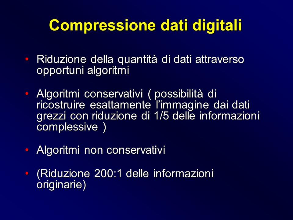 Riduzione della quantità di dati attraverso opportuni algoritmiRiduzione della quantità di dati attraverso opportuni algoritmi Algoritmi conservativi