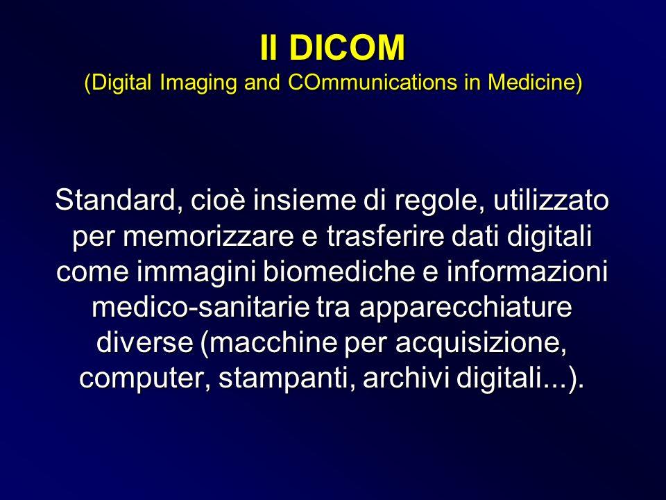 Standard, cioè insieme di regole, utilizzato per memorizzare e trasferire dati digitali come immagini biomediche e informazioni medico-sanitarie tra a