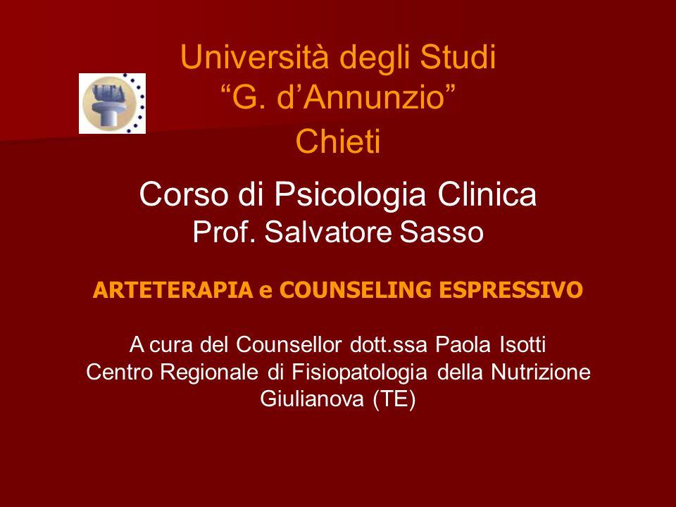 Università degli Studi G.dAnnunzio Chieti Corso di Psicologia Clinica Prof.