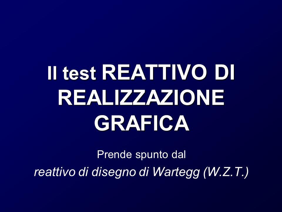 Il test REATTIVO DI REALIZZAZIONE GRAFICA Prende spunto dal reattivo di disegno di Wartegg (W.Z.T.)