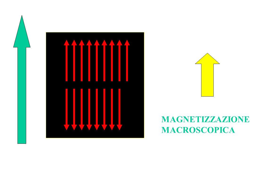 MAGNETIZZAZIONE MACROSCOPICA VETTORI DEI SINGOLI MOMENTI MAGNETICI CAMPO MAGNETICO