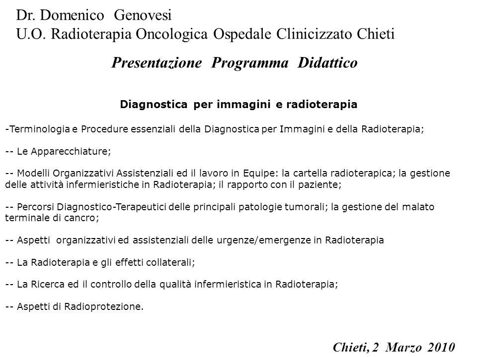 La Prestazione Radiologica La Prestazione Radioterapica