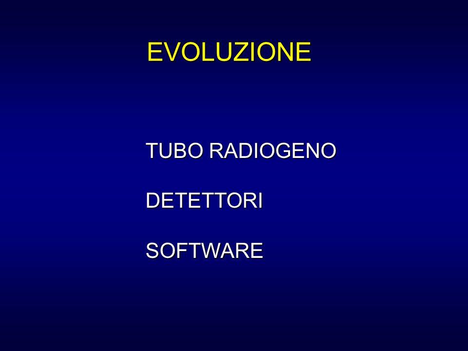 TUBO RADIOGENO DETETTORISOFTWARE EVOLUZIONE