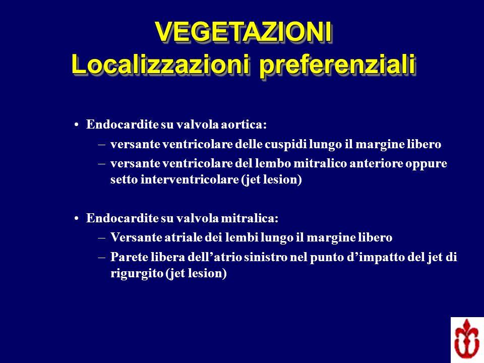 SENSIBILITA ECO TT: 40 – 63 % SENSIBILITA ECO TE: 90 – 100 % FALSI NEGATIVI –Vegetazioni di piccole dimensioni /Precoce embolizzazione –Esame troppo precoce –Qualità immagini eco scadente FALSI POSITIVI –Cicatrici –Alterazioni mixomatose –Verruche di Lambl (laspetto eco non permette di distinguere se vegetazione infettiva o sterile) ESC Guidelines 2009 Evangelista Heart 2004;90:614