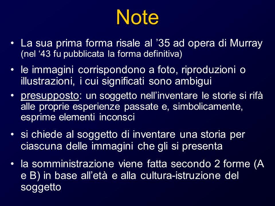 Metodo di Stern Le storie vengono valutate secondo le seguenti tabelle: 1.Rapporto tra limmagine e la storia 2.Legame tra i vari elementi tra loro 3.atteggiamento razionale 4.