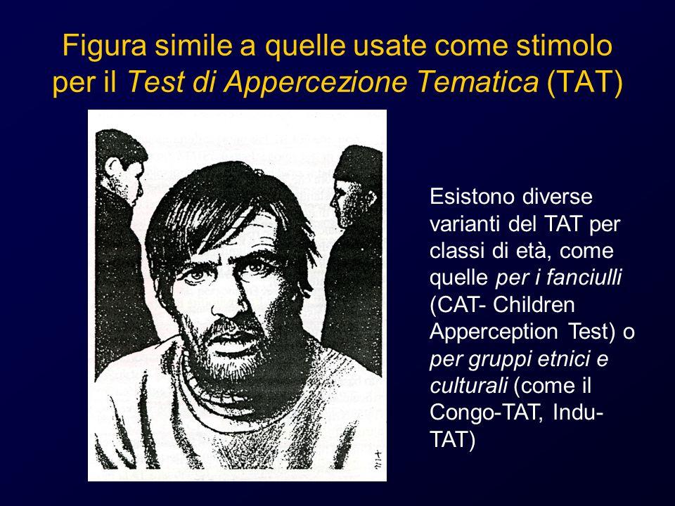 Figura simile a quelle usate come stimolo per il Test di Appercezione Tematica (TAT) Esistono diverse varianti del TAT per classi di età, come quelle