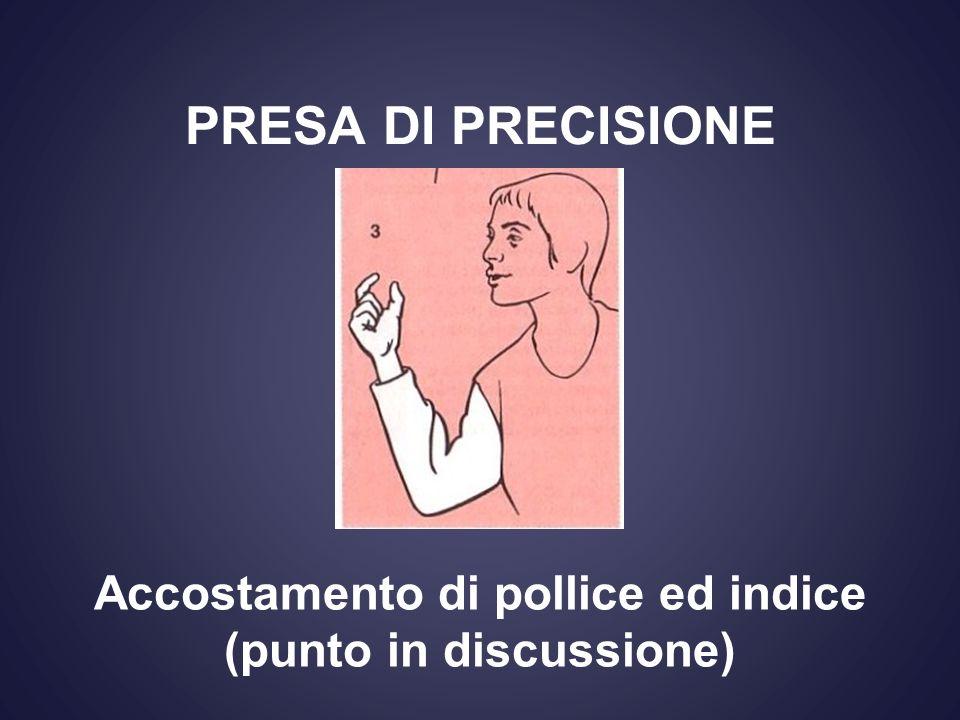 PRESA DI PRECISIONE Accostamento di pollice ed indice (punto in discussione)