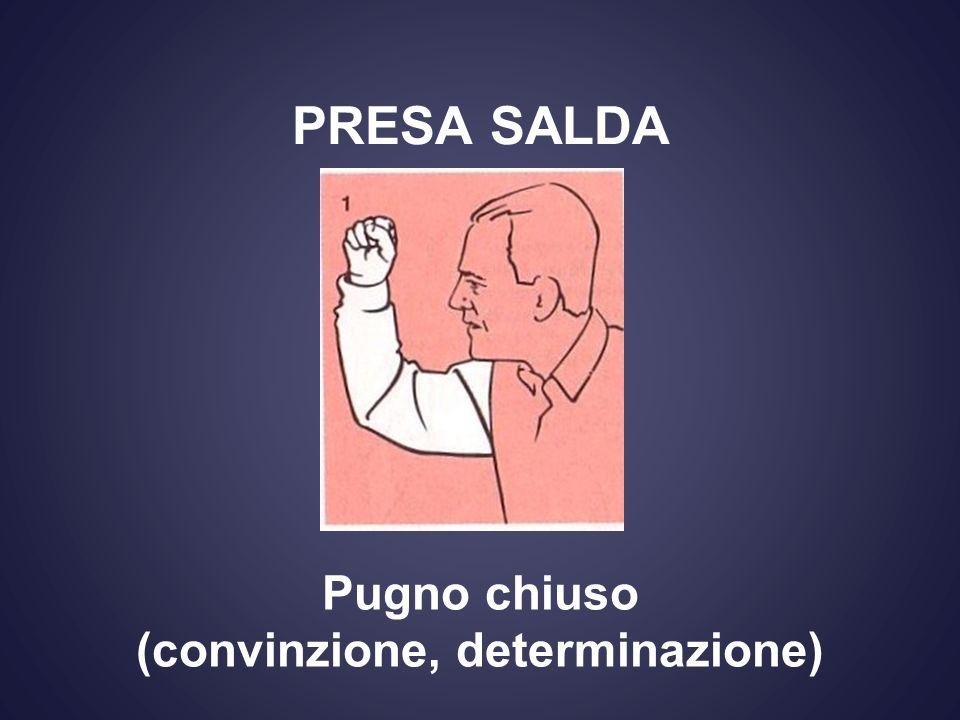 PRESA SALDA Pugno chiuso (convinzione, determinazione)