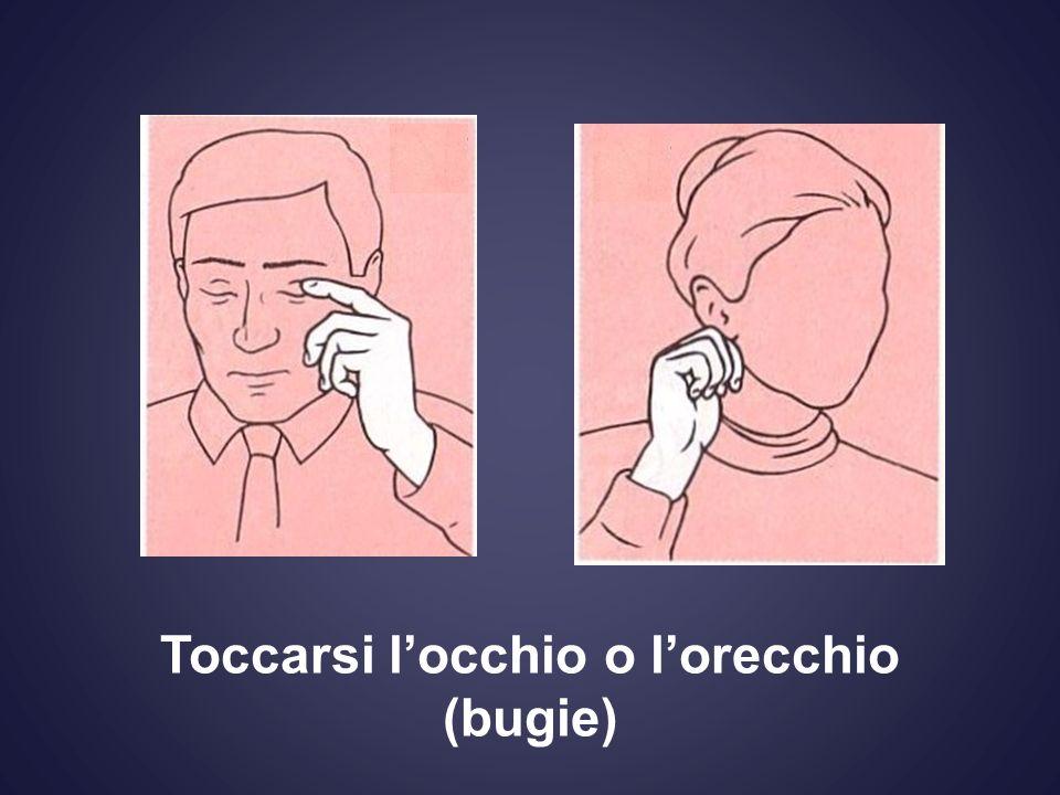 Toccarsi locchio o lorecchio (bugie)