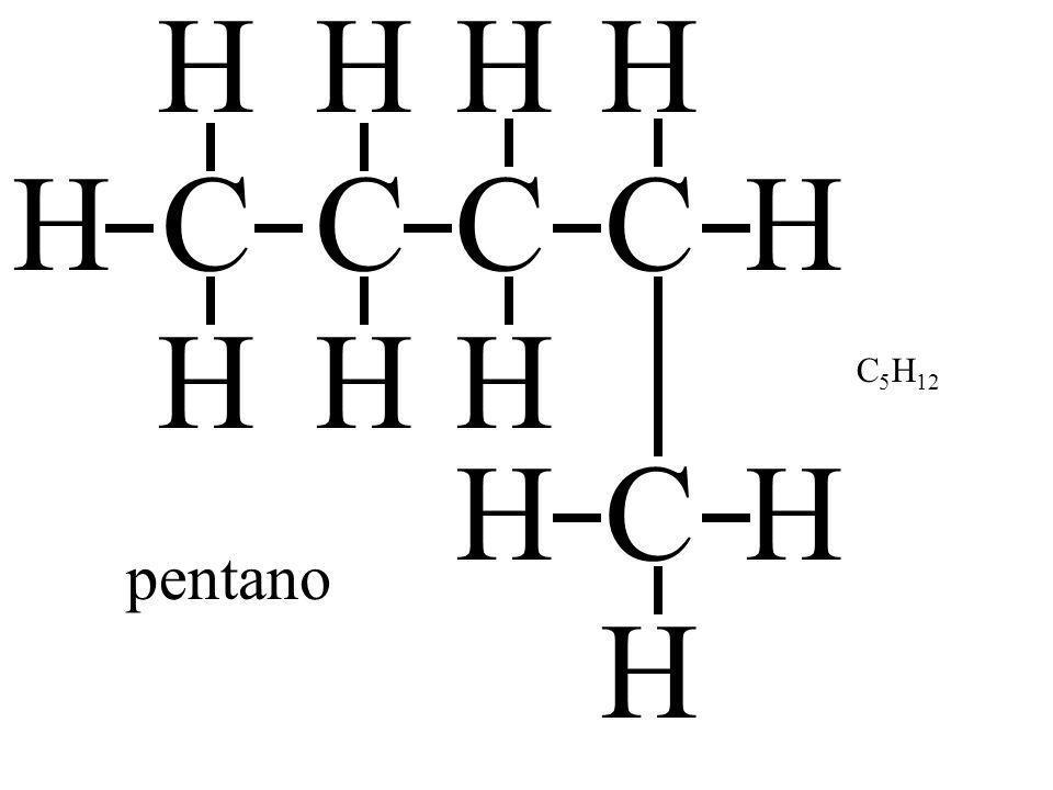 CH H H C H H C H H C H H H C H H pentano C 5 H 12