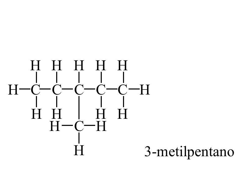 CH H H C H H C H HC H HC H H H C H H 3-metilpentano