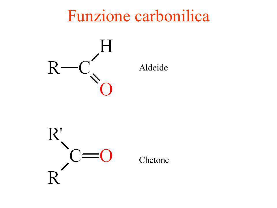 Funzione carbonilica Aldeide Chetone