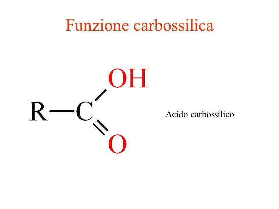 Funzione carbossilica Acido carbossilico