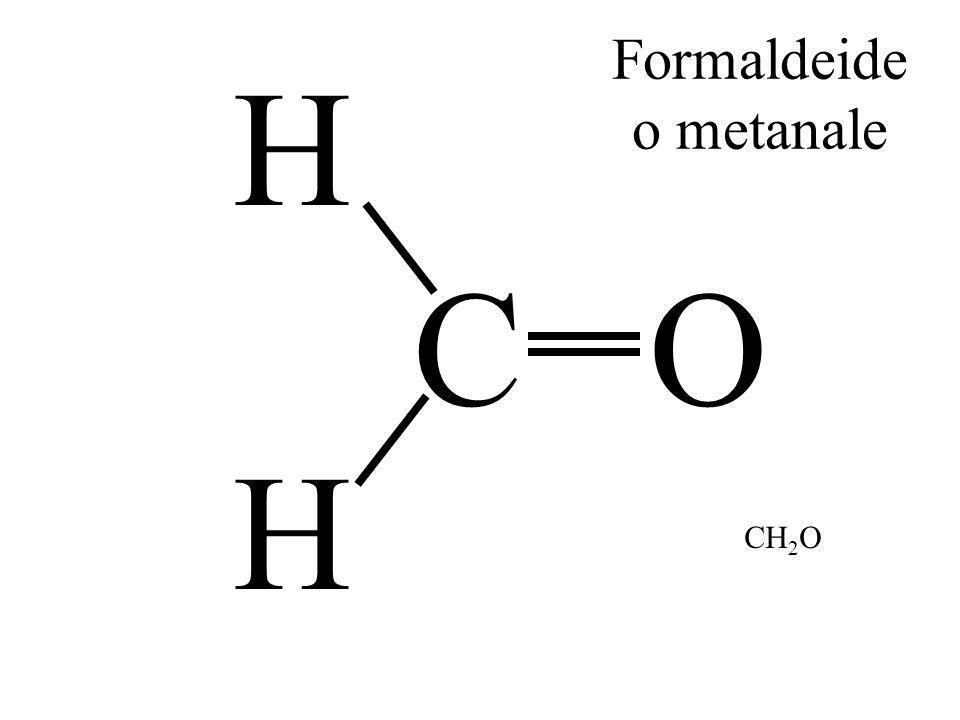 C H O H Formaldeide o metanale CH 2 O