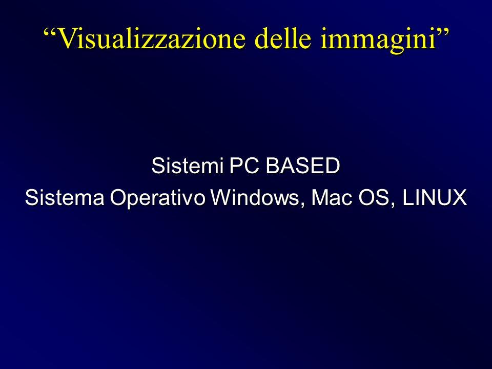 Sistemi PC BASED Sistema Operativo Windows, Mac OS, LINUX Visualizzazione delle immagini