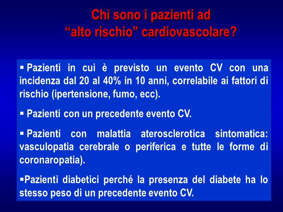 Chi sono i pazienti ad alto rischio cardiovascolare.