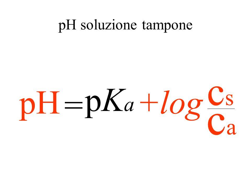 cscs caca = KaKa = cscs caca -logK a -log[H + ] -log = caca cscs pKapKa pH+ log