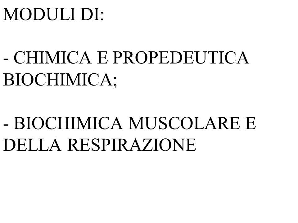 CORSO INTEGRATO DI Basi biomolecolari delle attività motorie Docenti: Prof. Antonio ACETO, Prof. Mario FELACO.