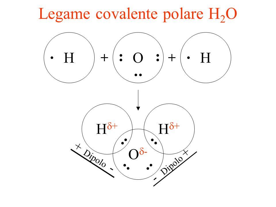 Legame covalente polare NH 3 NH + HH ++ N H HH Doppietto elettronico