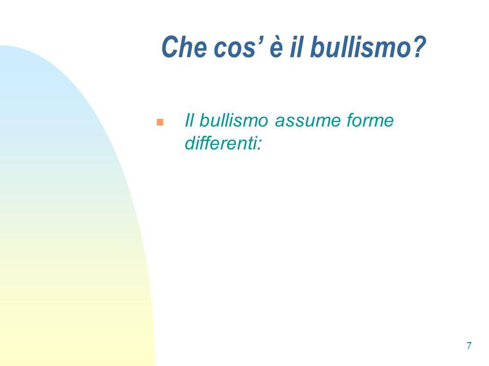 18 Quali sono le caratteristiche psicologiche dei Bulli.