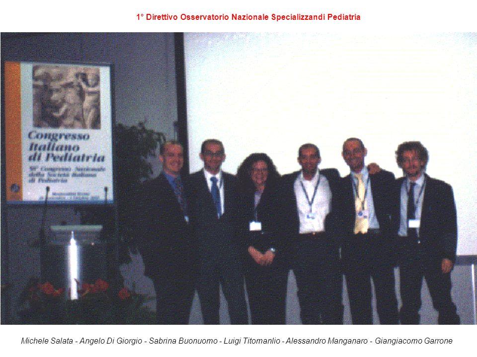 1° Direttivo Osservatorio Nazionale Specializzandi Pediatria Michele Salata - Angelo Di Giorgio - Sabrina Buonuomo - Luigi Titomanlio - Alessandro Man