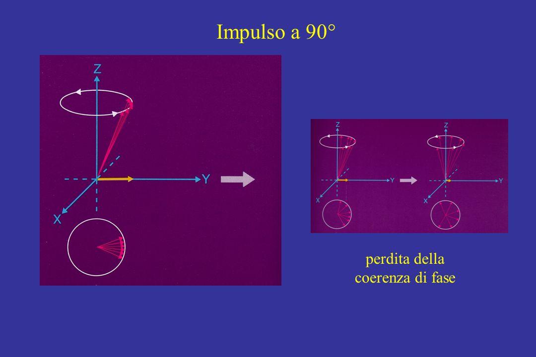 Impulso a 90° perdita della coerenza di fase
