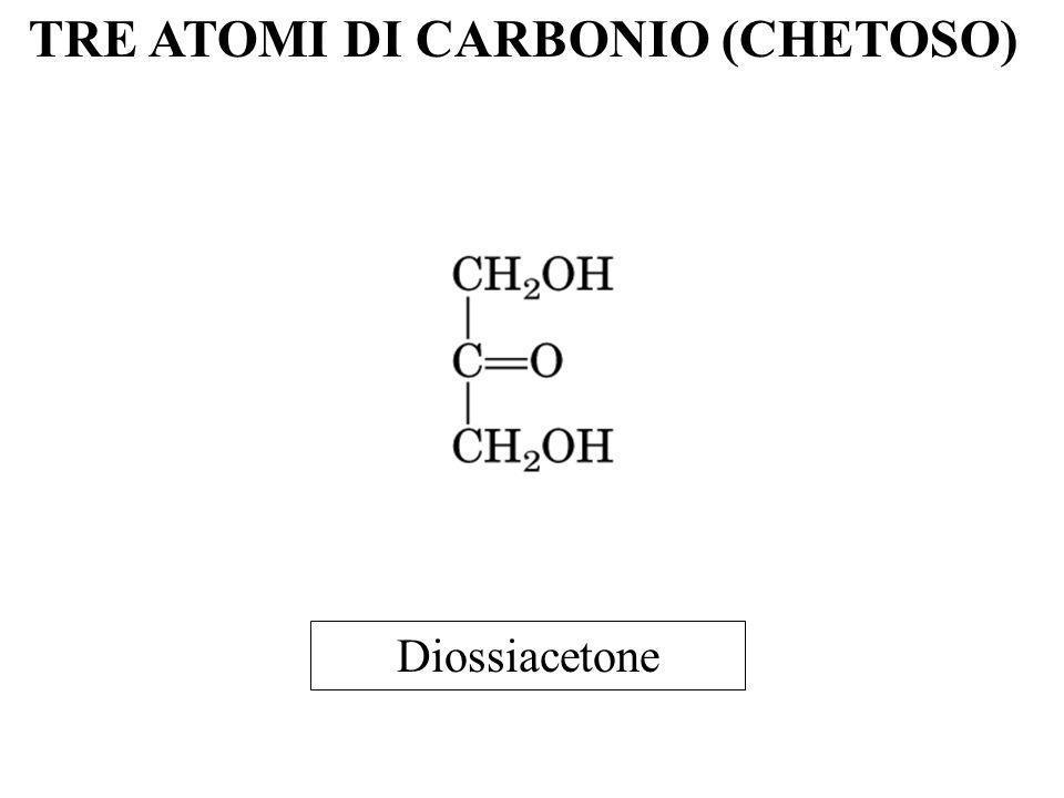 TRE ATOMI DI CARBONIO (CHETOSO) Diossiacetone