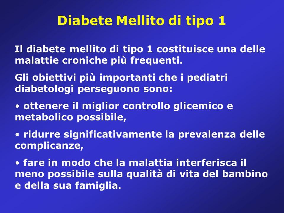 Definizione Il diabete mellito di tipo 1 è uno stato di deficit assoluto o relativo di insulina che conduce ad una elevazione cronica delle concentrazioni di glucosio nel sangue (iperglicemia).