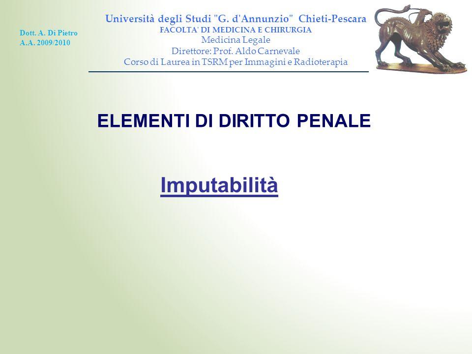 ELEMENTI DI DIRITTO PENALE Università degli Studi