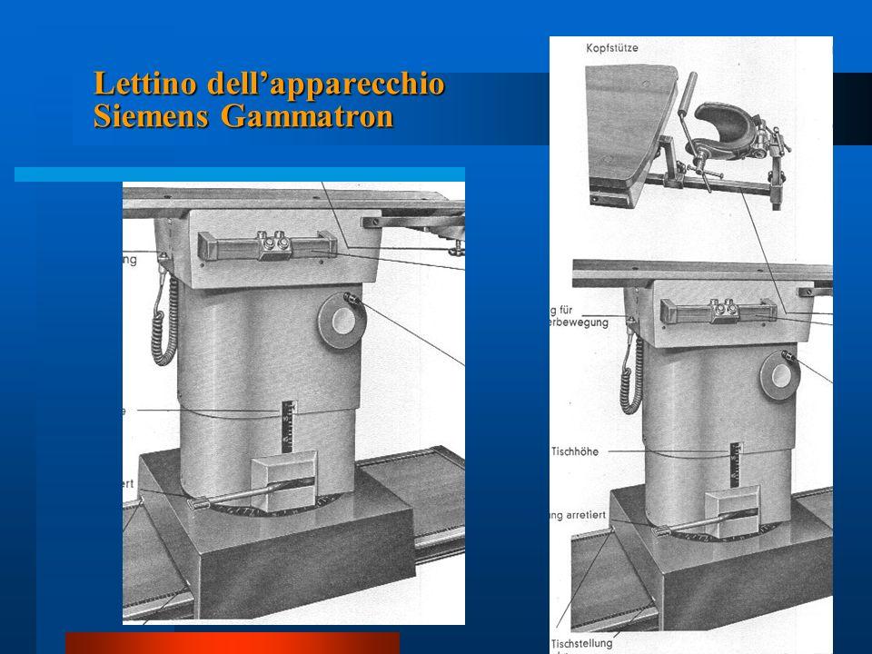 Lettino dellapparecchio Siemens Gammatron