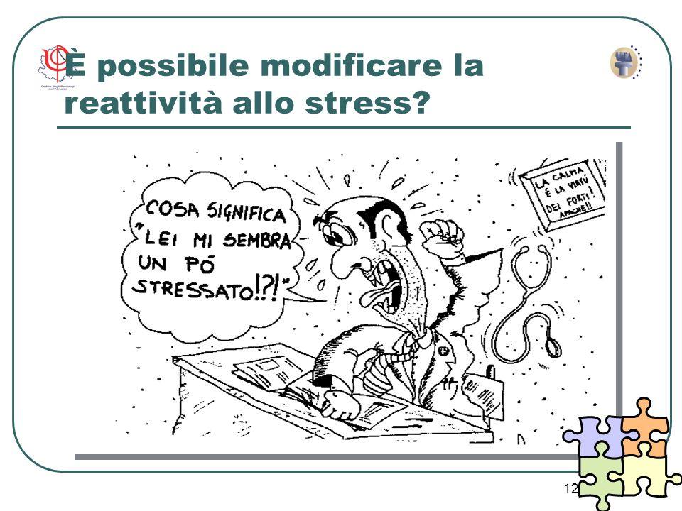 12 È possibile modificare la reattività allo stress?