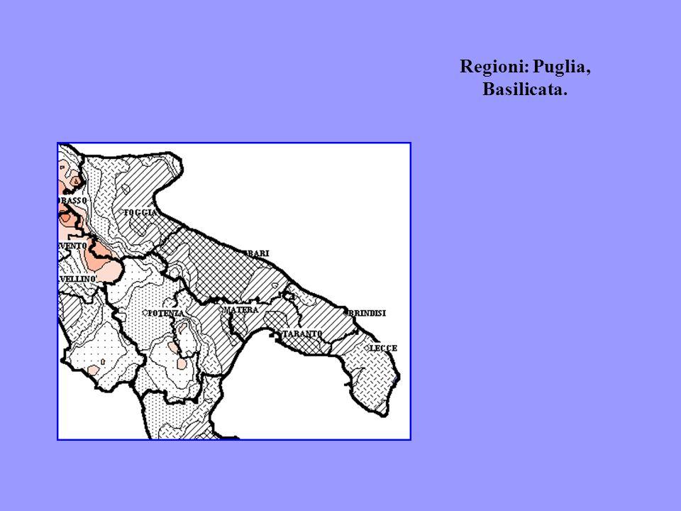Regioni: Puglia, Basilicata.