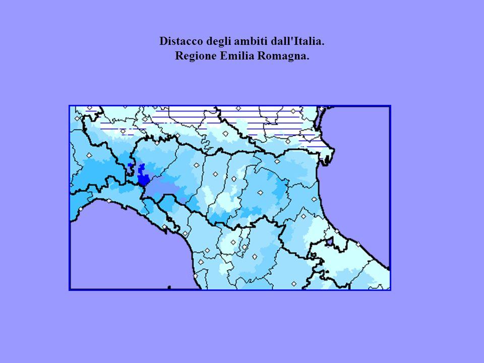 Distacco degli ambiti dall'Italia. Regione Emilia Romagna.
