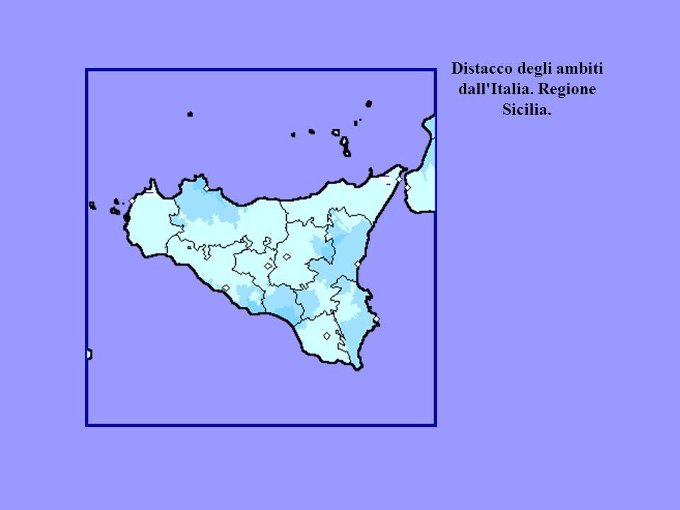 Distacco degli ambiti dall'Italia. Regione Sicilia.