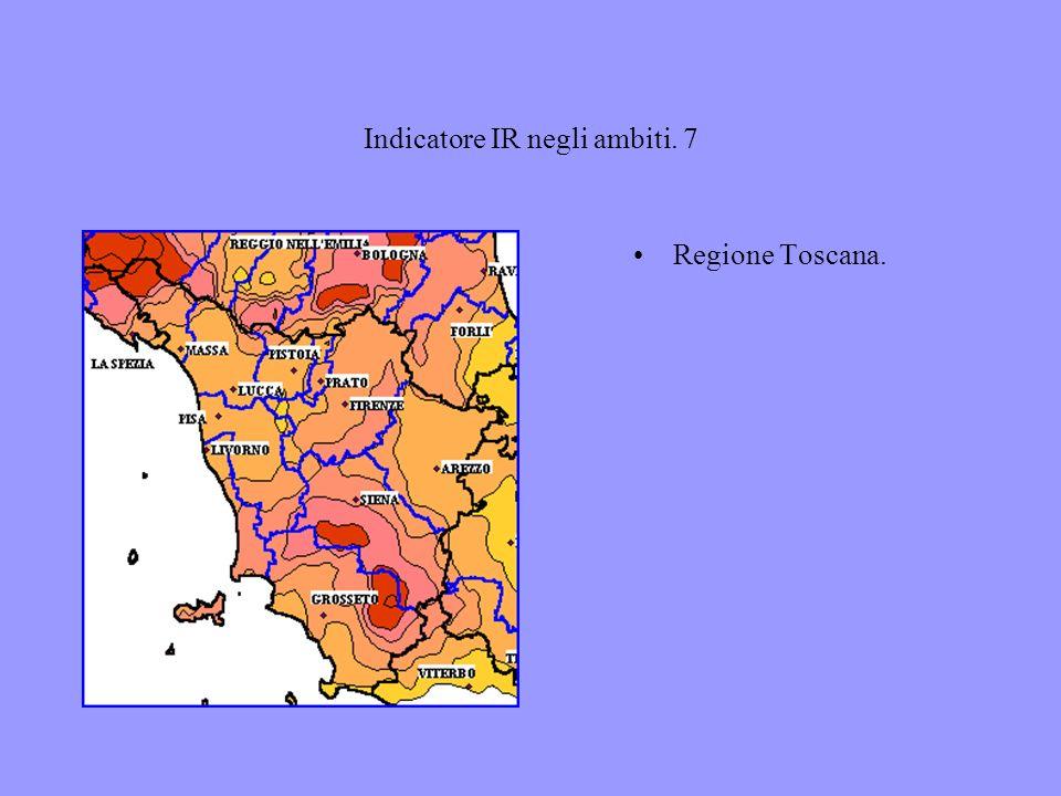 Indicatore IR negli ambiti. 7 Regione Toscana.