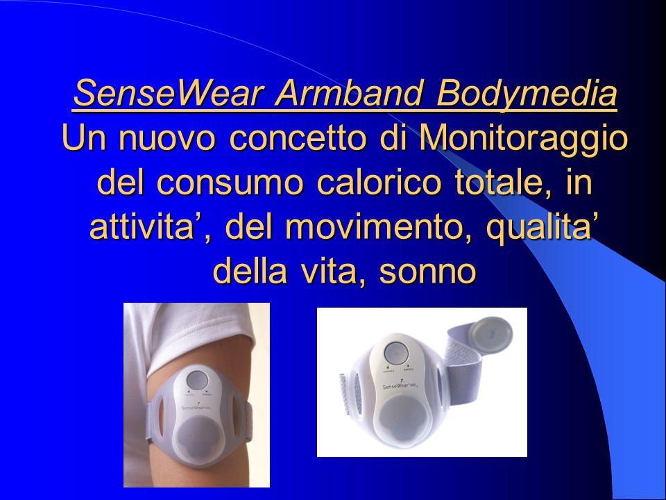 SenseWear Armband Bodymedia Un nuovo concetto di Monitoraggio del consumo calorico totale, in attivita, del movimento, qualita della vita, sonno Sense