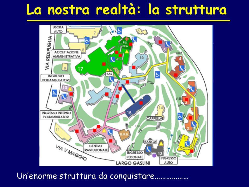 La nostra realtà: la struttura Unenorme struttura da conquistare………………