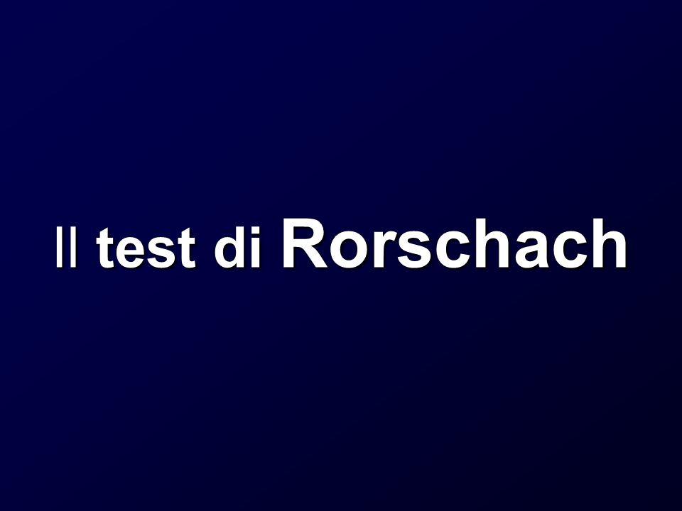 Il test di Rorschach
